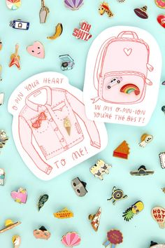 Pin It! Enamel Pin Valentine's Day Printables Collaboration With In Company