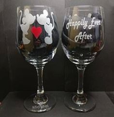 Mickey & Minnie Mouse Happily Ever After by LightedBottle on Etsy