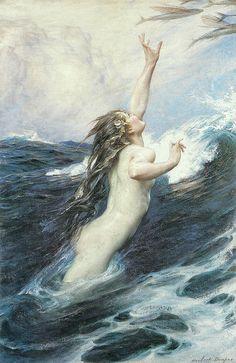 "Herbert James Draper (1863-1920) - ""Flying Fish"" | Flickr - Photo Sharing!"