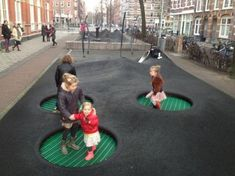 A playground has ever been regarded as a location where children, by playing, learn how to turn into non-playing adults. Designing it should be fun! At length, playgrounds have to be responsive to every child. Playground Design, Outdoor Playground, Children Playground, Modern Playground, Playground Games, Design D'espace Public, Landscape Architecture Design, Architecture Diagrams, Architecture Portfolio