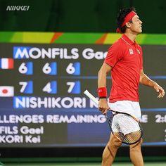 【#リオ五輪】#テニス の男子シングルス準々決勝でフルセットの末競り勝った #錦織圭(柏)http://s.nikkei.com/2alDfn7  #日経リオ…
