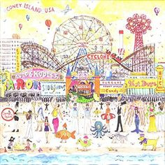 Summer at the Amusement Park By Michael Storrings 500 Piece Puzzle