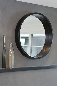 Add dimension to any room with the shadow-box frame of our round Loft mirror. Long Mirror, Round Wall Mirror, Round Mirrors, Circle Mirrors, Frame Mirrors, Modern Mirrors, Interior Design Tools, Tool Design, Circle Bed