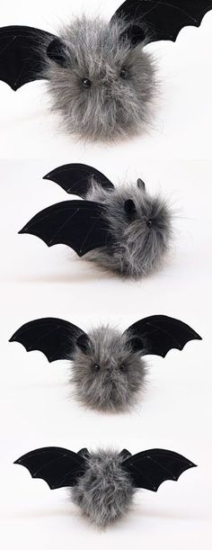 Halloween bats at www.fuzziggles.com #fuzzy #halloween #bat - Pinned by The Mystic's Emporium on Etsy