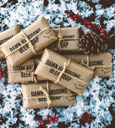 Nick's Porter Beer Soap by Damn Handsome on Scoutmob Crafts To Do, Fall Crafts, Cool Gifts, Diy Gifts, Christmas Time, Christmas Crafts, Porter Beer, Beer Soap, Stocking Stuffers For Men