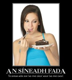 "Long Accent Mark: There is a big difference between ""eating cake"" and ""eating sh_t"" hahaha. Celtic Pride, Irish Language, 6 Pack Abs, Weight Loss Tips, Eat Cake, Languages, Ireland, Memes, Big"