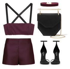 """""""This color <3"""" by baludna ❤ liked on Polyvore featuring Zero + Maria Cornejo, Valentino, Vanessa Mooney, M2Malletier and Yves Saint Laurent"""