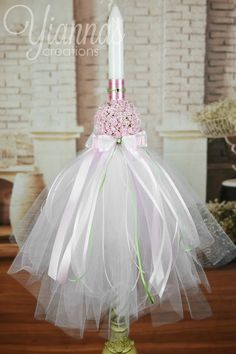 The Role Of Candles In Religion - wedding candles Baptism Candle, Baptism Favors, Christening Decorations, Orthodox Wedding, Baptism Dress, Baby Christening, Flower Ball, Communion, Greece