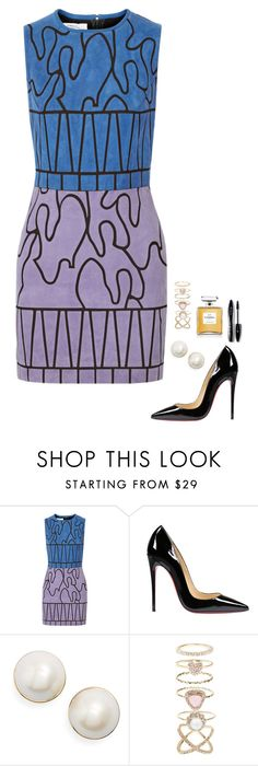 """""""Untitled #587"""" by h1234l on Polyvore featuring Versace, Christian Louboutin, Kate Spade, Accessorize, Chanel and Lancôme"""