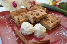 Rum Raisin Bread Pudding - featured in our Caribbean Food Delights 2010 calendar cookbook for the month of December
