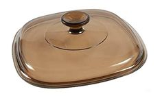 Corning Ware / Pyrex Amber Square Glass Lid ( Clear ) ( 8