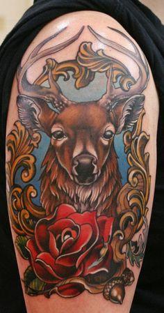 Deer Sleeve Tattoo