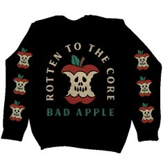 Bad Apple Rotten to the Core   Bikers Vest or Jacket Embroidered Cloth Patch