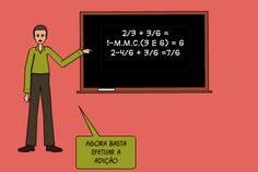 agora basta efetuar a adição   2/3 + 3/6 = 1-m.m.c.(3 e 6) = 6 2-4/6 + 3/6 =7/6