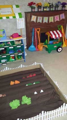 Photos of Dramatic Play Spaces for Childcare Providers. Find suggested items to add to your Daycare Pretend Play Area.