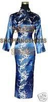 chinese cheongsam clothing gown qipao dress 590327 blue $64.41