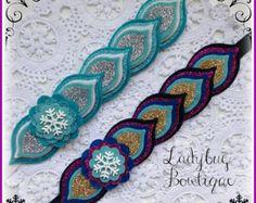 Frozen Sister Anna or Elsa Wool Felt Sparkle Headband ~ Choose One ~ Custom Size