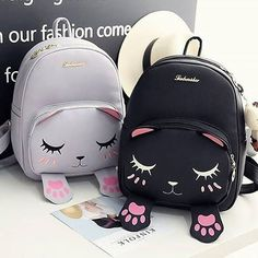 #black or #grey? So cute! Good as gift idea   #freeshippingworldwide  Product sku #SP168149 Click bio link to shop ^^ #newin #backpack #schoolbackpack #cutebackpack #kawaiibackpack #kawaiiclothing #kawaiistuff #cutestuff #catbackpack #catbag #kittybackpack #nekobackpack #xmas #xmasgift #xmasgiftidea #brithdaygift