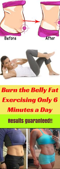 Burn the Belly Fat Exercising Only 6 Minutes a Day