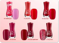 """red love are you in love with any of these """"the gel nail polishes""""?  #longlastinglove"""
