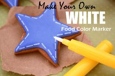 Make Your own White Food Color Marker!....can't wait to try and make chaldboard cake or cookies with this!!
