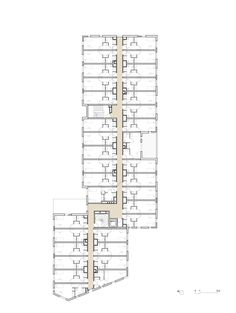Hotel Floor Plan, House Floor Plans, Versailles, Student Dormitory, Micro Apartment, Student House, Social Housing, Utah, Autocad