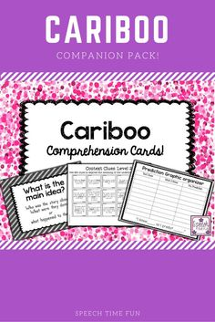Speech Time Fun:  Work on a variety of comprehension goals with this Cariboo companion pack!  Goals included: main idea, cause/effect, inferencing, context clues, and predicting!  Visual aids and graphic organizers included!!