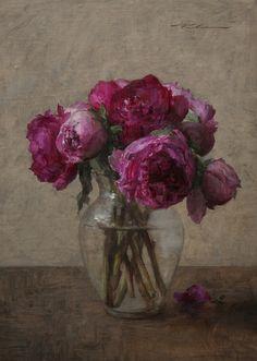 Pink Peonies by Michael Klein