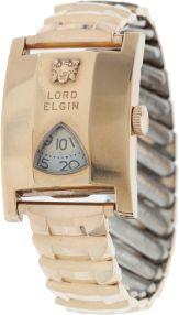 Elvis Presley Owned and Worn Lord Elgin Watch (Lord Elgin 21j, 1950s).  Lot: 46283  Opening Bid: $4,000**