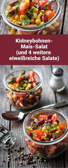 Kidneybohnen-Mais-Salat (und vier weitere eiweißreiche Salate)