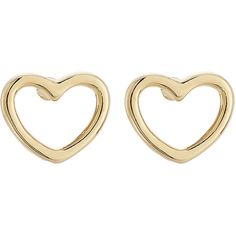 Marc by Marc Jacobs Heart Earrings (55 CAD) ❤ liked on Polyvore featuring jewelry, earrings, accessories, orecchini, gold, heart earrings, sparkle jewelry, heart shaped charms, heart shaped earrings and heart shaped jewelry