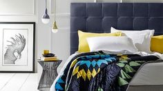 Bedroom Interior with Hugo Bedhead Design by Heatherly Design Bedheads, Australia « « Design Images, Photos and Pictures Gallery « DESIGN WAGEN Bedhead Design, Bedroom Furniture, Bedroom Decor, Bedroom Bed, Bedroom Lighting, Bedroom Inspo, Bedroom Inspiration, Color Inspiration, Bedroom Ideas