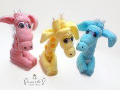 Baby animal washcloths (great baby shower gift or Easter basket stuffer) giraffe washcloth