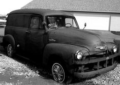 1955 Chevy Panel Truck. Country Classic Cars, Staunton, Illinois., via Flickr.