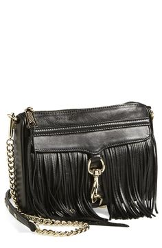 This flirty Rebecca Minkoff crossbody is totally chic with its fringe that flows effortlessly. This classic handbag will be a go-to this season.
