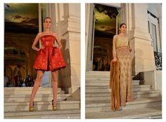 SIx O´Clock Tea 21° Edición - Los maravillosos vestidos couture de Claudia Arce, fueron de lo más espectacular que se mostró en la tarde - noche. Parte de ella, como la foto del ejemplo, parece inspirada en la temática de la última gala del MET: China: Through the Looking Glass