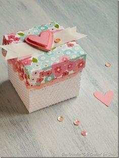 cafe creativo - sizzix big shot plus starter kit - favor box - scatolina bomboniera (3):