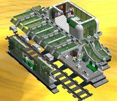 Lego Train Station, Lego Trains, Lego Room, Lego Creations, Legos, First Birthdays, Projects, Lego Stuff, Ideas
