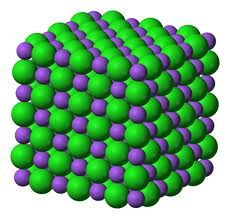 This picture shows that metal when a solid, it is hard to change its shape, as its molecules are tightly packed.