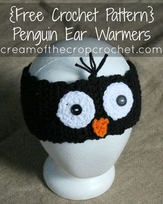 Cream Of The Crop Crochet ~ Penguin Ear Warmers {Free Crochet Pattern} More