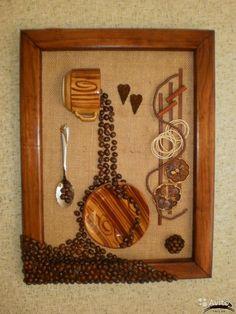 Панно из кофейных зерен Coffee Bean Art, Coffee Beans, Tea Cup Art, Tea Cups, Ikea Mirror, Coffee Crafts, Bead Art, Quilling, Fiber Art