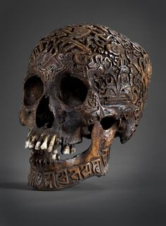 Antique carved Tibetan skull…