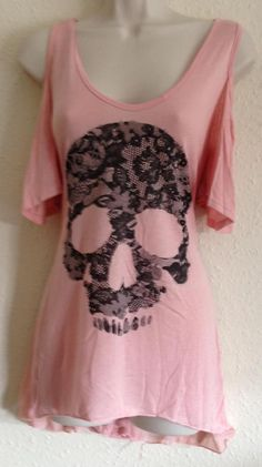 Carpe Diem Pink Skull Top (a favourite gothic punk clothes repin of VIP Fashion Australia )