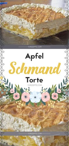 Apfel – Schmand – Torte Apfel-Sauerrahm-Torte The post Apfel-Sauerrahm-Torte & Backen appeared first on Kuchen. Coconut Recipes, Tart Recipes, Snack Recipes, Dessert Recipes, Easy Smoothie Recipes, Easy Smoothies, Apple Sour Cream Cake, Apple Cake, Chocolate Cocktails