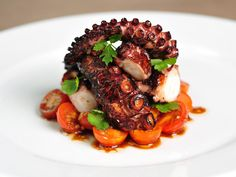 Grilled octopus at Bianca.