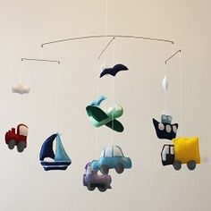 Going Places - To order this fantastic handmade felt mobile visit www.for-example.co.za