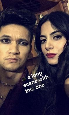 On the set of #ShadowHunters!