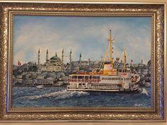 #İstanbul #manzara #vapur #yağlıboya #yağlıboyatablom