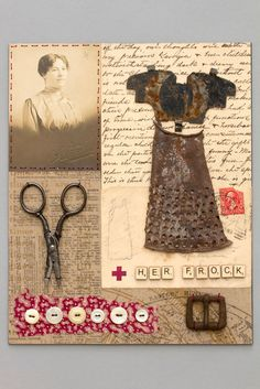 "Mar Goman ~ ""Her Frock"" (2011) Mixed media: collage, sewing, found objects 