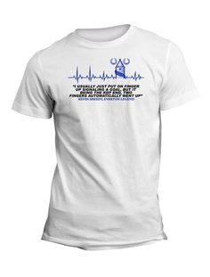 Kevin Sheedy Everton Legend Quote TShirt - Put It On, Wear It Out. Kevin Ratcliffe Quote. I Usually Just Put One Finger Up Signaling A Goal, But It Being The Kop End, Two Automatically Went Up. Like it, Share it with fellow blues. Ideal for all true Evertonians, Birthday or Christmas gifts, Available in White, Sky Blue or Ash Grey.
